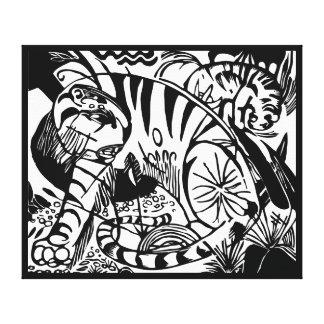 Franz Marc - tigre noir et blanc - art abstrait Toiles