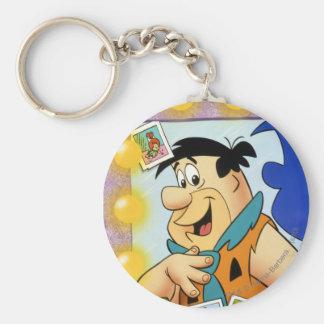 Fred Flintstone Look In Mirror Sleutelhanger
