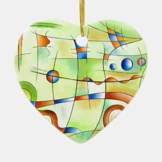Frenesia - monde fou ornement cœur en céramique