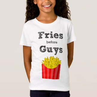 Fritures avant T-shirt d'ado de types