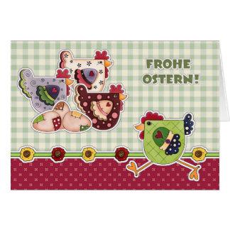 Frohe Ostern. Cartes de Pâques faites sur commande