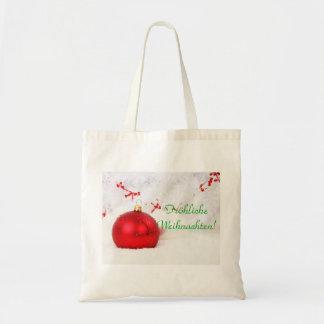 Frohliche rouge et blanc Weihnachten I de Noël Sacs En Toile