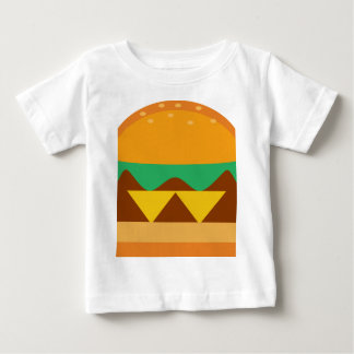 fromage de nourriture de pain d'hamburger t-shirt pour bébé