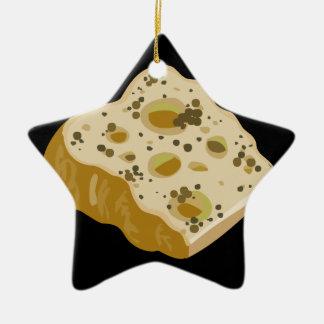 Fromage de nourriture de problème très très stinky ornement étoile en céramique