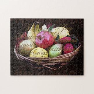 Fruit de l'esprit, panier peint de Brown Puzzle