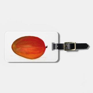 Fruit de mangue étiquette à bagage