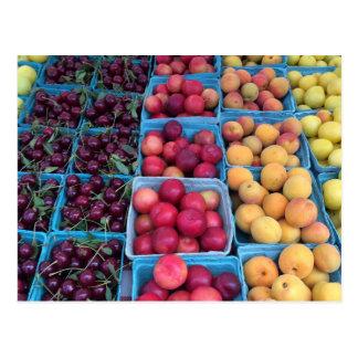 Fruit du marché d'agriculteurs carte postale