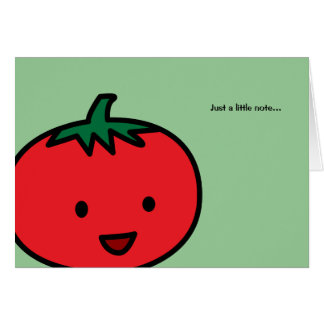Fruit végétal rouge de tomate heureuse carte