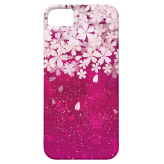 Fuchsia de fleurs de cerisier de Sakura et fleurs Coques Case-Mate iPhone 5