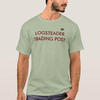 Fumée de Log_cabin W, LOGSTEADER COMMERÇANT T-shirt