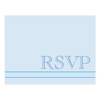 Fundamentele Blauwe RSVP Briefkaart