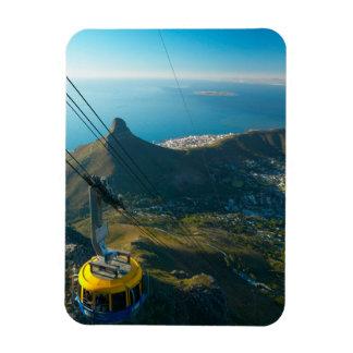 Funiculaire de montagne de Tableau, Cape Town Magnet En Rectangle