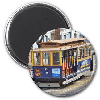 Funiculaires à San Francisco Magnet Rond 8 Cm