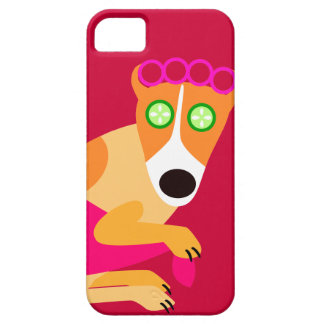 Funny Spa Hond - Rood iPhone 5 Hoesje