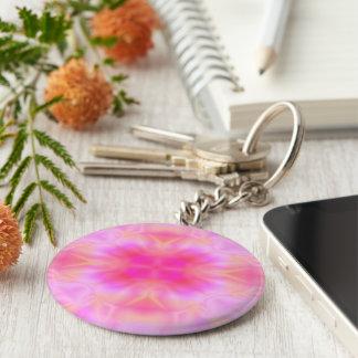 Fusée rose porte-clés