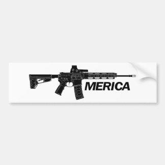 Fusil de l'Amérique Autocollant De Voiture