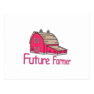 Futur agriculteur carte postale