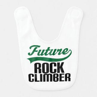 Futur bavoir de bébé de grimpeur de roche