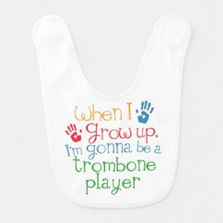 Futur bavoir de bébé de joueur de trombone