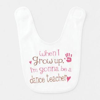 Futur bavoir de bébé de professeur de danse