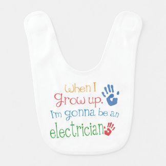 Futur bavoir de bébé d'électricien