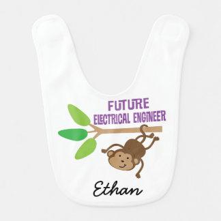 Futur bavoir personnalisé de bébé d'ingénieur