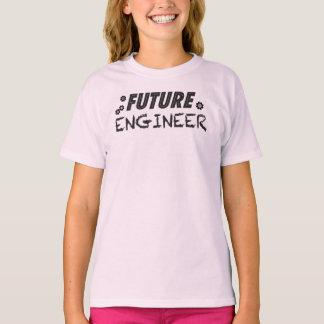 Futur T-shirt de filles d'ingénieur