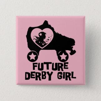 Future fille de Derby, conception de patinage de Badge Carré 5 Cm