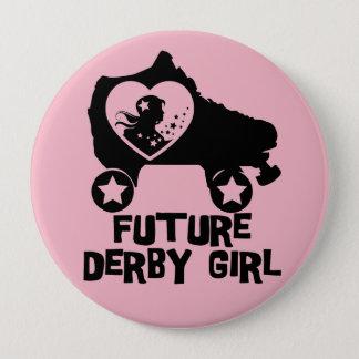 Future fille de Derby, conception de patinage de Badge Rond 10 Cm