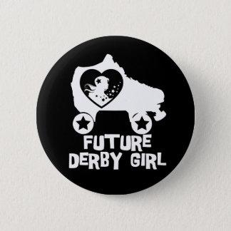 Future fille de Derby, conception de patinage de Badge Rond 5 Cm