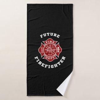 Future serviette de Bath de sapeur-pompier
