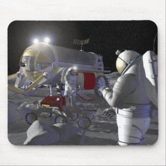 Futures missions 11 d'exploration d'espace tapis de souris