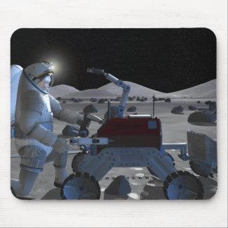 Futures missions 7 d'exploration d'espace tapis de souris