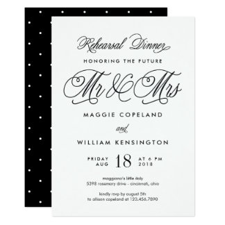 Futurs M. et Mme Rehearsal Dinner Invitation