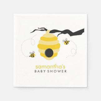 Gaffez le baby shower d'abeilles serviette jetable