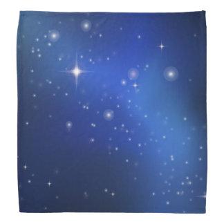 Galaxie bleue foulard