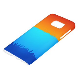 Galaxie caisse bleue/orange de S7 de Samsung Coque Samsung Galaxy S7