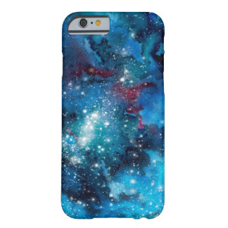 Galaxie d'aquarelle coque iPhone 6 barely there