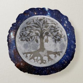 Galaxie de lumière et d'étoile de lune coussins ronds