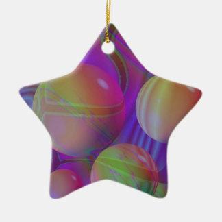 Galaxie violette d'indigo de fractale abstraite ornement étoile en céramique
