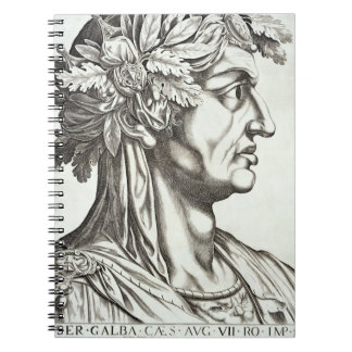 Galba César (3 BC-69 ANNONCE), 1596 (gravure) Carnet À Spirale