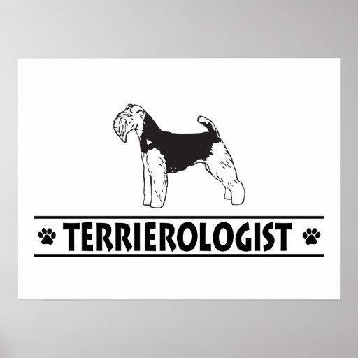 Gallois Terrier humoristique Affiche