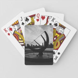 Gamme de gris de coucher du soleil de cadran jeu de cartes