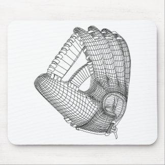 gant de base-ball tapis de souris