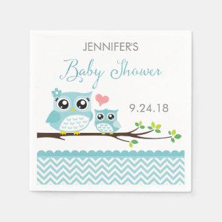 Garçon bleu des serviettes | Chevron de baby Serviette En Papier