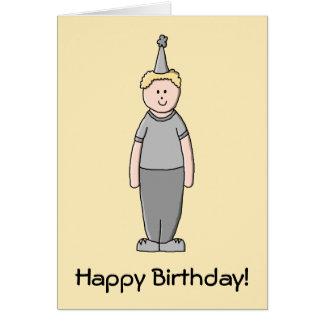 Garçon d'anniversaire carte de vœux