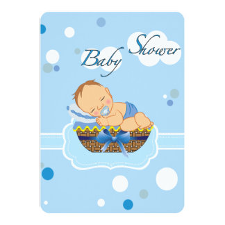 Garçon de baby shower carton d'invitation  12,7 cm x 17,78 cm
