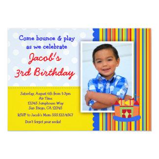 Garçon d'invitation de fête d'anniversaire de carton d'invitation  12,7 cm x 17,78 cm