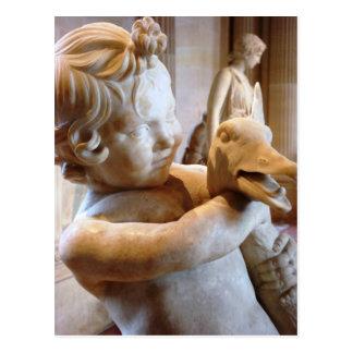 Garçon du grec ancien avec l'oie carte postale