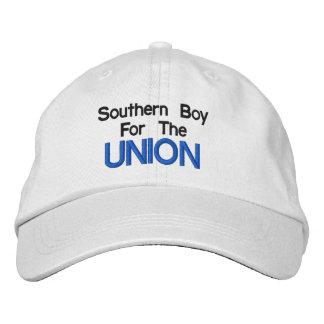 Garçon du sud pour le casquette des syndicats